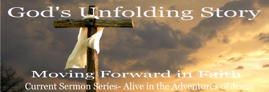 Gods Story Alive in Jesus Banner