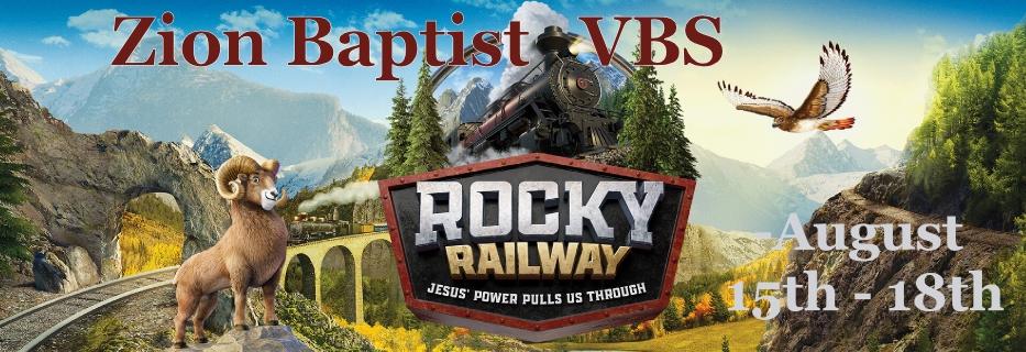 VBS Banner Rocky Railway